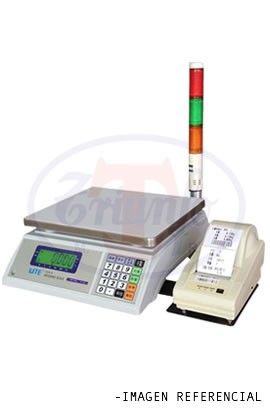 Balanza con impresora y sistema de semáforo 30 Kg.