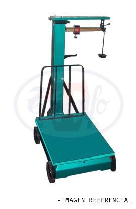 Romana mecánica con ruedas y respaldo 10 Kg.