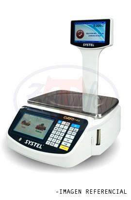 Balanza digital 15 Kilos Pantalla TOUCH con impresora Ticket y USB